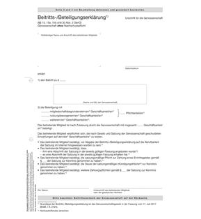 Beitritts-  Beteiligungserklärung weiterer Pflicht-  Geschäftsanteile (ohne Nachschusspflicht)