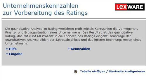 Werkzeug: Unternehmenskennzahlen zur Rating-Vorbereitung - shop ...