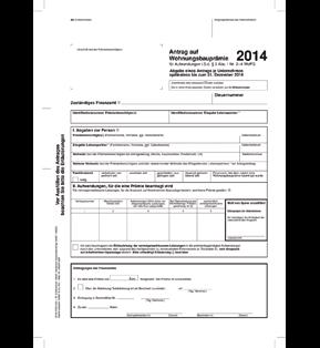 Antrag auf Wohnungsbauprämie 2014