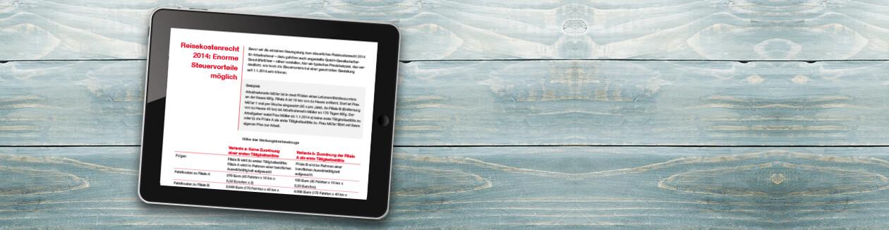 Reisekosten 2014: Steuer- und Gestaltungstipps für Arbeitnehmer