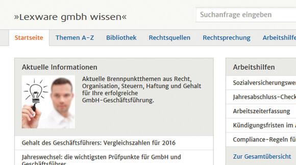 Das komplette Fachwissen für GmbH-Geschäftsführer